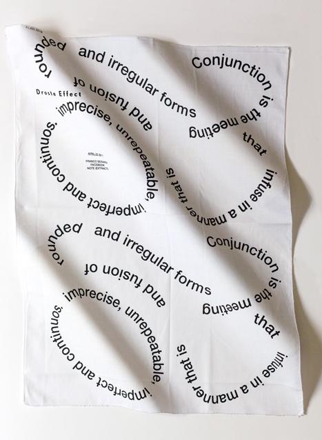 Flag, Droste Effect, Droste Effect magazine, special edition, silkscreen, Franco Berardi, Bifo