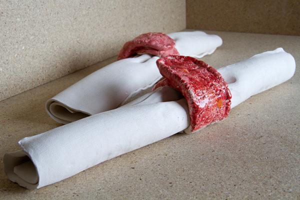 Emma Hart, Dirty Looks (work in progress) 'Clay Napkins' 2013. Courtesy the artist.