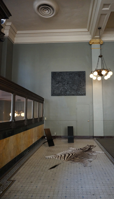 view of works by Rashid Johnson, Painting In Place,2013