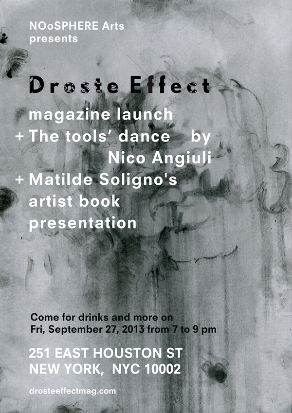 Independent publishing. Droste Effect magazine in New York