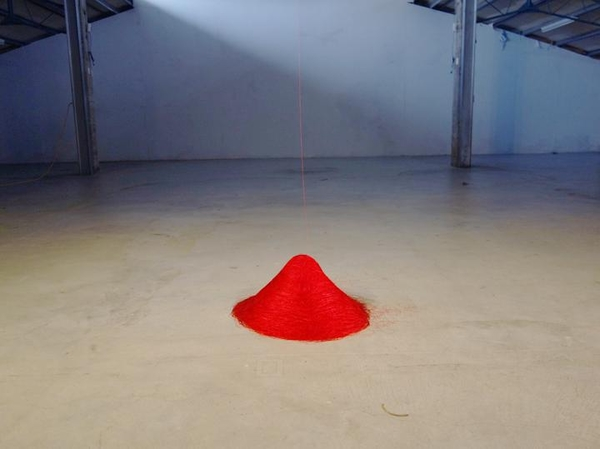 Su-Chen Hung, Falling Red, 2013.