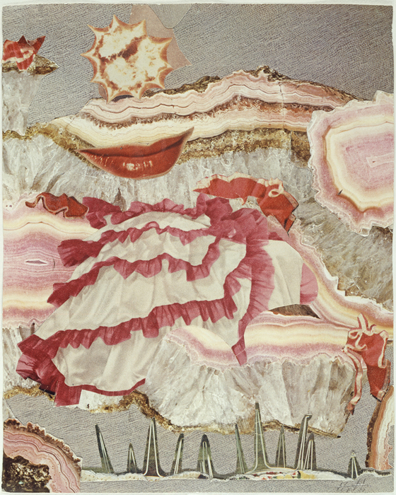 Um einen roten Mund ( Around a Red Mouth) c. 1967 Collage 20.5 x 16.5 cm Collection of IFA, Stuttgart
