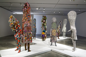 Currently on view in the West Gallery of the Institute of Contemporary Art, Boston are a dozen of Nick Cave's Soundsuits along with four remarkably decadent pieces built around regal dog statues. The dog sculptures exude luxury and wealth. It is an absolutely breathtaking scene that is hard to take in all at once. Cave …