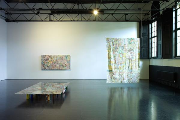 Samara Scott, installation view, 2014. Photo: Stuart Whipps