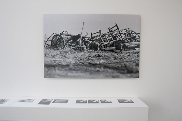 Imre Bukta In The Cemetary Of Farm Wagons 1976, alu-dibond, cm 80x120