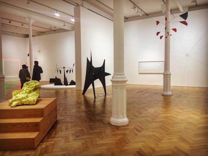 The Calder Prize 2005-2015: Darren Bader, Alexander Calder, Tara Donovan, Rachel Harrison, Zilvinas Kempinas, Haroon Mirza, Tomas Saraceno. Installation view at Pace Gallery, until 5 March