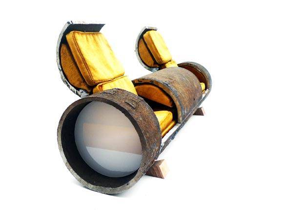 Cloche sofa Sewer Pipe