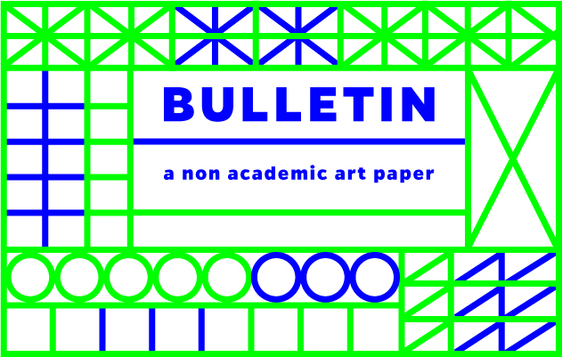 Bulletin, art paper, academic paper, call for papers, art writing, Droste Effect magazine