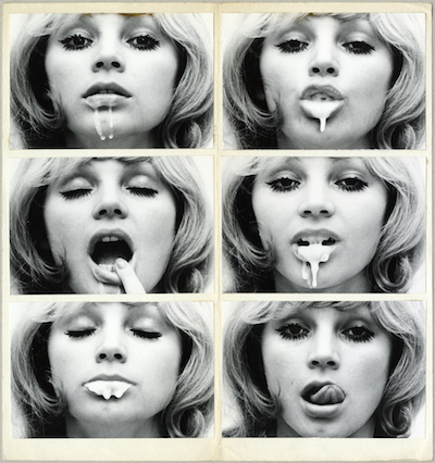 Natalia LL Consumer Art 1972 6 x bw photograph collage cardboard 330 x 310 mm Marinko-Sudac-Collection