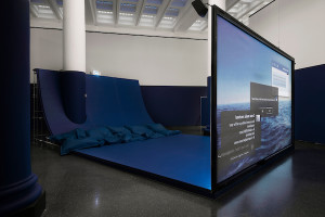 Hito Steyerl, Infinite Blue, Brooklyn Museum