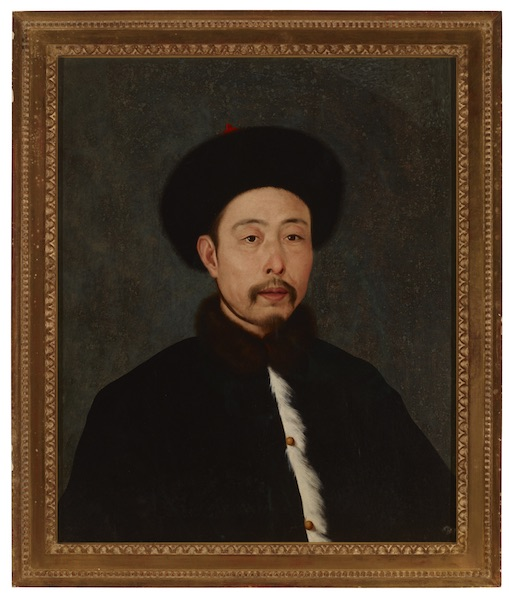 Giuseppe Castiglione, Portrait of Emperor Qianlong in Winter Suit, courtesy MOCA Yinchuan Collection, Yinchuan Biennale