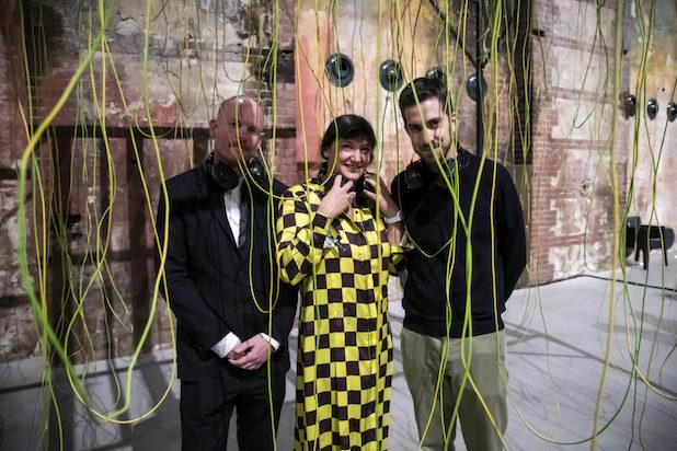 Yann Chateigné Tytelman, Ilaria Bonacossa, Nicola Ricciardi. Photo by Perottino – Piva – Bottallo / Artissima 2018.