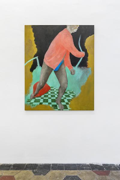Sara Enrico, Andrea Respino, Rosa ritorto, 2019 olio su tela 136x110 cm