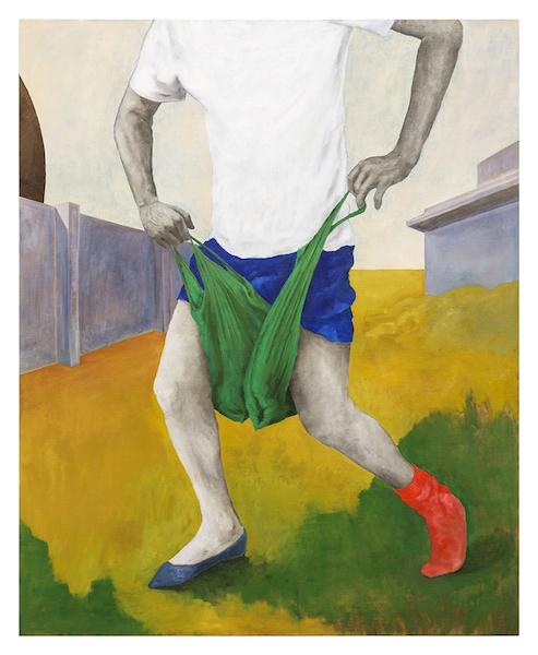 Sara Enrico, Andrea Respino, I beati verdi, 2019 olio su tela 136x110 cm courtesy the artist photo: Beppe Giardino